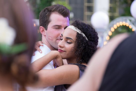 A couple dances together at the 2014 Midsummer Night Swing.